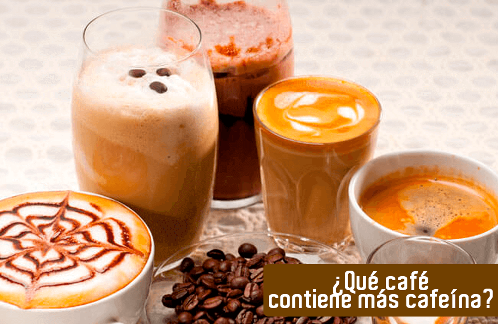 ¿Tiene más cafeína un café corto o uno largo? ¿Un solo o un con leche?