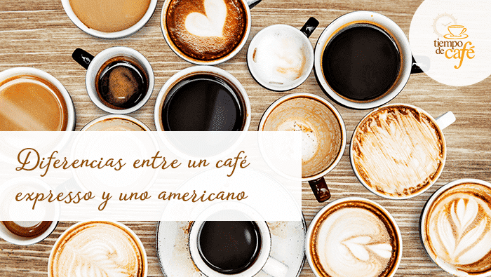 Diferencias en la preparación de un café expresso y uno americano
