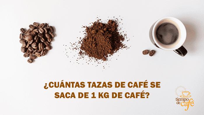 ¿Cuántas tazas de café se sacan de 1 kg. de café?